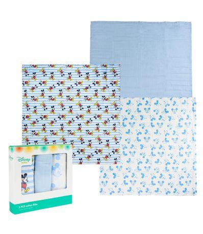 Pack-3-mousseline-de-coton-70x70cm-Mickey