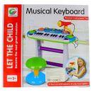 Piano-infantil-Com-microfone-e-banco