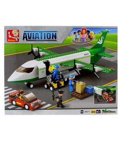 Sluban-Bloques-de-Construccion-Avion-Carguero