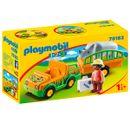 Playmobil-123-Vehiculo-del-Zoo-con-Rinoceronte