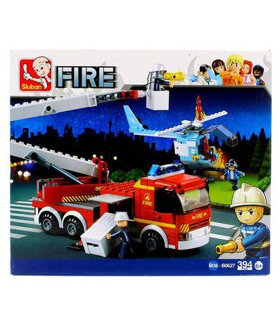 Sluban-Blocs-de-construction-camion-et-helicoptere