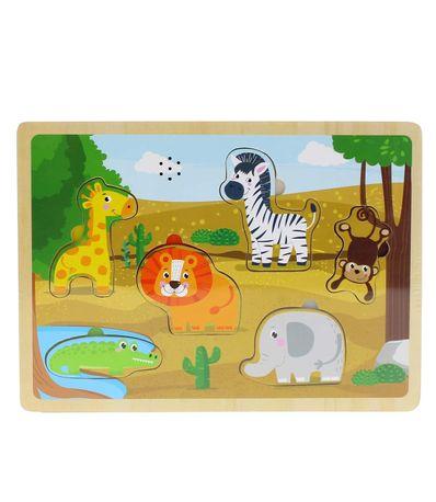 Puzzle-Madeira-Animais-da-Selva