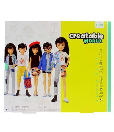 Creatable-World-Kit-Figura-Peluca-Negra