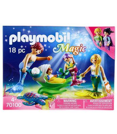 Playmobil-Magic-Familia-con-Cochecito