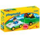 Playmobil-123-Voiture-avec-remorque-pour-chevaux