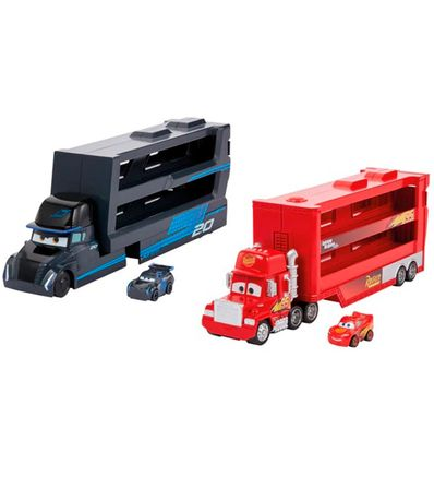Assortiment-de-voitures-Mini-Racers-Transporter