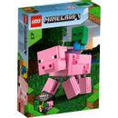 Lego-Minecraft-BigFig--Cochon-avec-bebe-Zombie