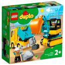 Lego-Duplo-Camion-y--Excavadora-con-Orugas