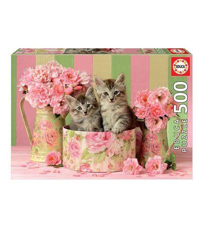 500-pecas-de-gatinhos-com-rosas