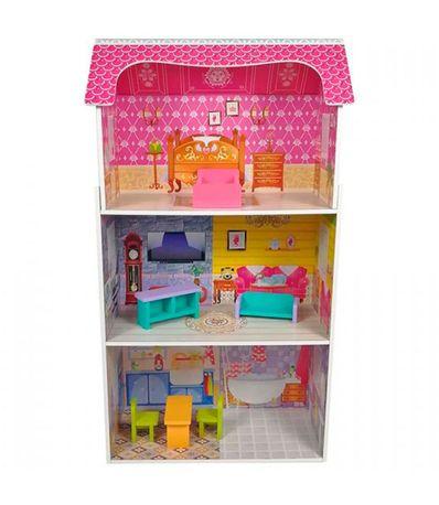 Casa-de-bonecas-de-madeira-com-moveis