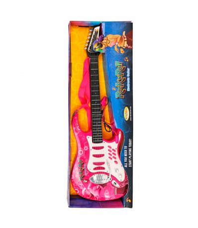 Guitare-electrique-rose