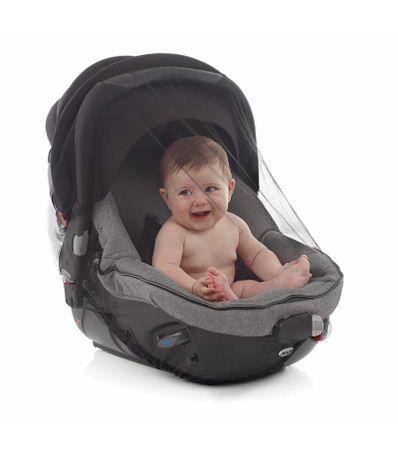 Mosquiteira-Negra-Cadeira-de-Passeio-Carrinho-Bebe
