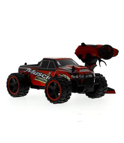 Voiture-RC-Monster-Muscle-rouge-Echelle-1-14