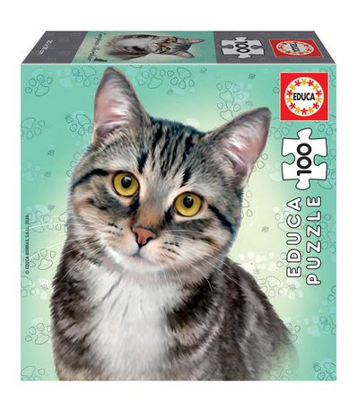 Puzzle-chat-europeen-100-pieces