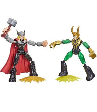 The-Avengers-Bend-et-Flex-Thor-contre-Loki