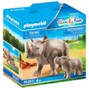 Playmobil-Family-Fun-Rhinoceros-with-Baby