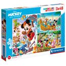 Puzzle-Mickey-et-ses-amis-3x48-pieces