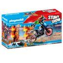 Playmobil-Stuntshow-Moto-avec-Mur-de-Feu