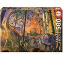 Quebra-cabeca-curioso-Vincent-Hie-Dinosaurs-500-pecas