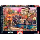 Puzzle-3000-Pieces-Romance-em-Veneza