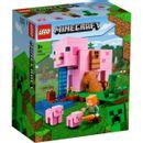 Lego-Minecraft-Pig-House