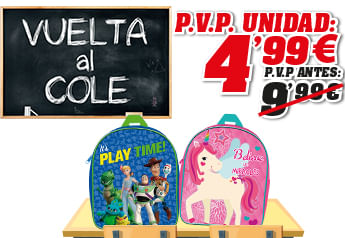 Promoción Mochilas